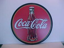 """Coca-Cola 12"""" Tin Sign  """"Bottle-Old Logo-Red/Green/White"""""""