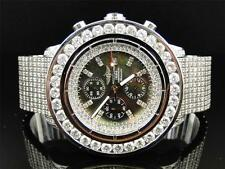 Mens Custom XL 55.20 Ct Breitling Super Avenger Aeromarine Diamond Watch