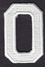 "LETTERS - WHITE BLOCK LETTER ""O"" (1 7/8"") - Iron On Embroidered Applique Patch"