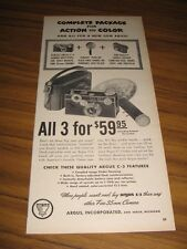 1950 Print Ad Argus C-3 Cameras & Plug-In Flash Units Ann Arbor,MI
