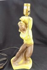 Vintage Chalkware Lamp Stern Inc 1953 Male Ballet Dancer
