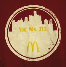 McDONALD's tee XL restaurant hamburgers Detroit T shirt fast food 313 Michigan