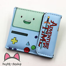 Anime wallet Adventure Time BMO Leather Wallet Cosplay BMO Purse Two-Fold Purse