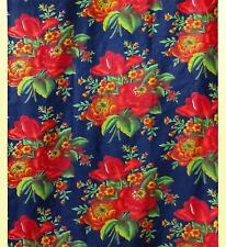 VINTAGE UZBEK RUSSIAN TRADE PRINTED COTTON A9330