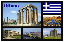 ATHENS - GREECE - SOUVENIR NOVELTY FRIDGE MAGNET - SIGHTS - NEW/GIFT