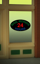 """BAIL BONDS  WINDOW SIGN -CAN BE TRIMMED AS SMALL AS 1"""" W X 0 .9"""" T - FLASHING !"""