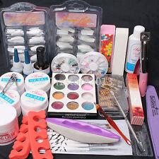 24 in 1 Nail Art UV Gel Brush Tips Top Coat Glue Sanding File Full DIY Tools Kit