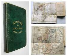 1830 HISTORY & GEOGRAPHY School BOOK with MANUSCRIPT PAGES MAPS Dublin Ireland
