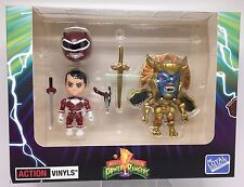 SDCC Power Rangers Metallic Red Ranger vs Goldar Vinyl Figures Loyal Subjects