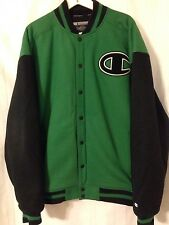 Champion Green And Black XXL 2XL Snap Varsity Jacket Coat