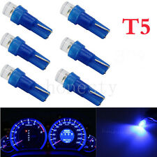 10PCS Blue T5 58 70 1 LED 0.1W  Dashboard Wedge Light Lamp Bulb for Car Parts