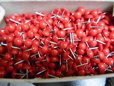 200 Ziernägel/Polsternägel in rot , 9 mm im Durchmesser Mit hochgewölbtem Kopf