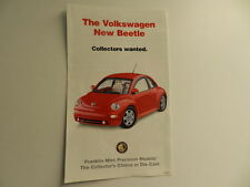 Franklin Mint VOLKSWAGEN NEW BEETLE Brochure Pamphlet Mailer
