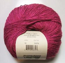 Juniper Moon Farm Zooey 16 Sloop Magenta Soft Cotton Linen Blend 100 gram Yarn