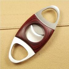 Red Wood Stainless Steel Cigar Cutters Scissors (56)