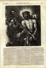 1848 corona de espinas Grabado De Cristo diseñado por Van Dyck