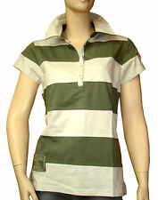 Polo rayures beige vert CHIPIE femme taille 4 = taille 40 42