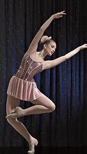 NEW!  EXQUISITE SEQUINED GLITTER DANCE LYRICAL BALLET COSTUME ~ MEDIUM ADULT