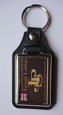 JOHN PLAYER TEAM LOTUS FAUX LEATHER KEY RING / KEY FOB.FORMULA ONE CHAMPIONS.