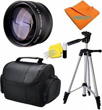 58MM TELEPHOTO ZOOM LENS + CARRYING CASE BAG +TRIPOD FOR CANON EOS REBEL T3 T3I