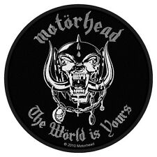Motörhead - The Wörld Is Yours Patch Aufnäher world rund circular Metal Rock NEU