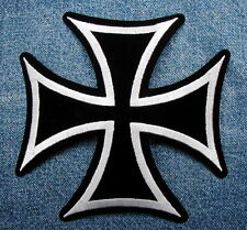 GIANT IRON CROSS BIKER MOTORCYCLE Black and Gray BACK PATCH from DIXIEFARMER