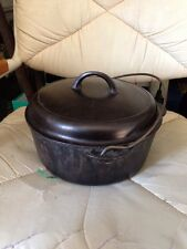GRISWOLD No 8 TITE-TOP BASTER DUTCH OVEN --Black Cast Iron