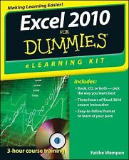 Microsoft Excel 2010 for Dummies® Kit by Faithe Wempen (2012, Paperback)