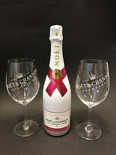 Moet Chandon Ice Imperial Rose Champagner 0,75l 12% Vol + 2 Ice Glas Gläser