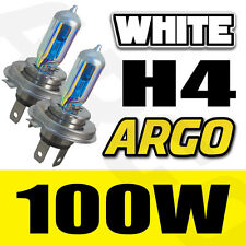 H4 8500K 100W HEADLIGHT BULBS HID LOOK XENON WHITE FANTASTIC COLOUR 472 P43T