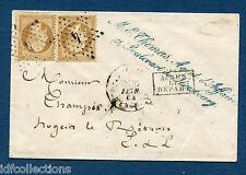 Classique de France sur lettre Napoléon N°21 oblitération étoile de Paris N°4