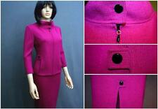 NEW STUNNING ST.JOHN SANTANA KNIT MAGENTA 2 PC.SUIT JACKET SKIRT SIZE 8 4 CHIC!