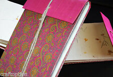 Brocade cover journal diary with embeded flower leaves hand made paper India