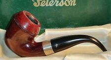 Peterson's Sherlock Holmes Pipe w/ Sterling Silver Band in Original Box   (III)