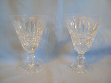 "VINTAGE WATERFORD CRYSTAL WINE GOBLETS SET OF TWO TRAMORE 5.75"" SIGNED"