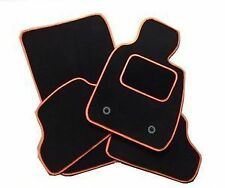 Volkswagen Beetle 2012 Onwards TAILORED CAR FLOOR MATS Black WITH ORANGE TRIM