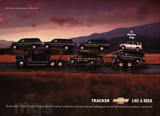 Chevy Tracker 1-page print ad Oct 2000 Thinks Big