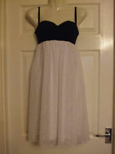 BNWT SIZE 12 BLACK & WHITE WOMENS PARTY DRESS sexy Summer Smart Evening Ladies