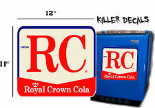 "12"" EARLY RC ROYAL CROWN COLA DECAL COOLERS SODA POP MACHINE"