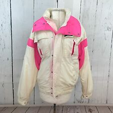Sun Ice Sunice Women's Vintage White Hot Pink 80s 90s Ski Jacket Snow Size Small