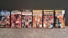 (LOT of 6) CHICAGO BULLS 1996-1998 & 1991-1993 3 PEAT NBA CHAMPIONSHIPS on VHS