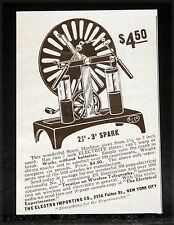 """1914 OLD MAGAZINE PRINT AD, ELECTRO IMPORTING, STATIC 2-3"""" SPARK MAKING MACHINE!"""