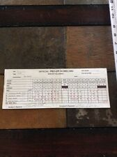 Guy Boros signed auto official Ideon Golf Classic Scorecard Pro-Am