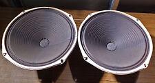 """12"""" Pair Magnavox Wurlitzer Special Design Alnico Speakers - 10.7/11.0 DCR Ohms"""