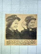1949 Jarrow Twin Sisters Margaret And Winifred Gray St John's Ambulance To Malta