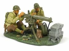 W Britain 17492 US Water-Cooled Browning Team WWII 1/30 Scale Soldiers