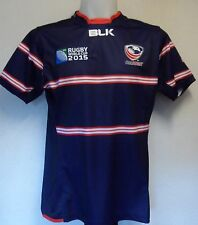 USA RWC 2015 S/S HOME RUGBY JERSEY BY BLK SIZE LARGE BRAND NEW WITH TAGS