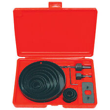 "NEW HOLE SAW SET - 16 pc Hole Saw Kit- 3/4"" - 5"" inch - includes Case"