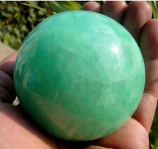 80mm Glow In The Dark Stone crystal Fluorite sphere ball~--
