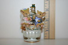 Carlton Cards Ornament - First Christmas Together - Mice - Champagne - 2000